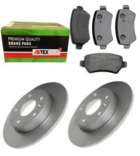 REAR BRAKE DISCS AND BRAKE PADS FITS VAUXHALL ASTRA MERIVA ZAFIRA