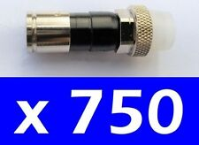 LOT 750 Male Coax RG6 Cable Compression Connector Fitting Boot Seal EX6XLWS PLUS