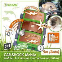 ISOTRONIC Marder-Frei Mobil Ultraschall LED Hochspannung Marderabwehr Batterie