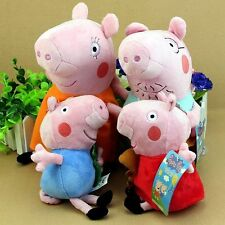 4Pcs Peppa Pig Family Plush Doll Stuffed Toy 30cm DADDY MUMMY 19cm Peppa GEORGE