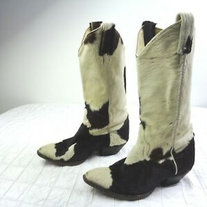 LARRY MAHAN COWHIDE PONY WESTERN COWGIRL BOOTS VINTAGE LADIES Size 5.5 C