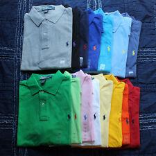 Ralph Lauren 8148 Mens White Pique Classic Fit Short Sleeves Polo Shirt XL BHFO