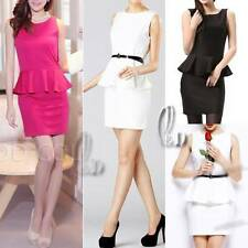 Peplum Hand-wash Only Formal Solid Dresses for Women