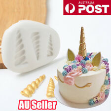 Silicone Unicorn Horn Fondant Mold Cake Chocolate Decorating Baking Mould ON