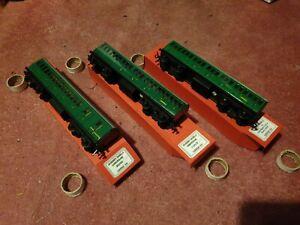 hornby dublo SR suburban coaches x3 00 gauge 2 or 3 rail