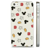 Mickey Mouse Disney Parts Pattern CLEAR PHONE CASE COVER fits iPHONE 5 6 7 8 X