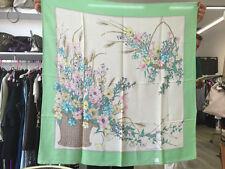 Foulard donna Christian Dior bordo verde fantasia a fiori