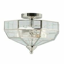 Elstead Lighting Old Park Polished Nickel Semi Flush Ceiling Light