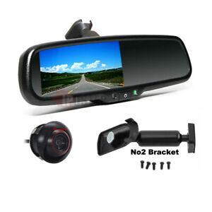 "4.3"" Car Rearview Mirror Monitor No2 Mount+360 Rotate Reversing Camera For Honda"