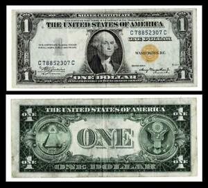 1935 A $ 1 SILVER CERTIFICATE-YELLOW SEAL-NORTH AFRICA~VERY FINE