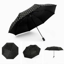 3 Folding Anti-UV Umbrella Women Compact Parasol Sun Rain Windproof Umbrella