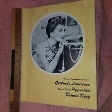 Souvenir Lot - PYGMALION 1947 Detroit Light Opera - Program Stubs CASS -FreeSHIP