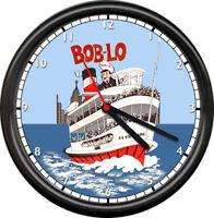 Bob-Lo Boblo Boats Island Detroit Sister Boats Amusement Park Sign Wall Clock
