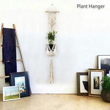 Pot Holder Macrame Plant Hanger Hanging Planter Basket Jute Rope Braided
