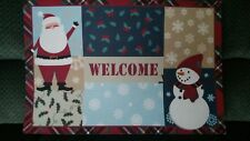 "Door Mat 18"" x 27""   HOLIDAY WELCOME"