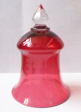 photophore cloche lampe à huile en cristal rose Ancien