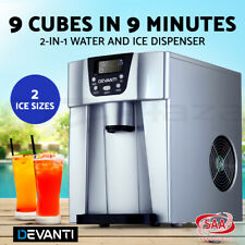 Devanti 2l Portable Ice Maker Commercial Machine Water Dispenser Ice Cube Silver