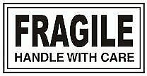 """480""""Fragile Handle with care Stickers""""  Medium Labels Black print Self Adhesive"""