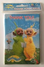 Unsealed Package of Eight Teletubbies Thank You Cards with Eight Envelopes