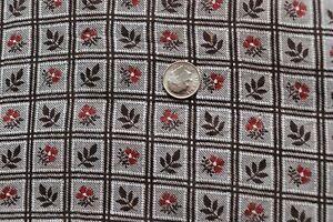 "Antique c1890 American Floral Calico Cotton Fabric~L-50"" X W-18""~Dolls,Quilts"