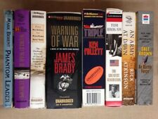 8 Mixed Lot Cassette Audiobooks Triple, Greatest Generation, Warning of War, + 5