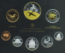 2009 Canada Proof Set Coinage Sterling Silver Gold Plated First Flight No Box