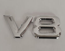 SILVER Chrome 3D Metal V8 Square Badge Emblem for Audi S1 S3 S4 S5 S6 S7 S-Line