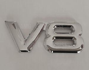 Argent Chrome 3D Métal V8 Carré Badge Emblème Pour Chevrolet Cruze Spark Lacetti