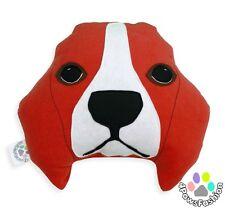 Beagle Throw Pillow/ Stuffed Plush/ Kids Art Toy/ Dog Pillow/ Handmade Houseware