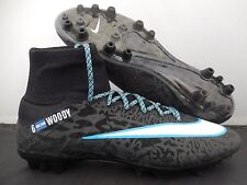 NIKE MERCURIAL SUPERFLY AG ID BLACK-BLUE-WHITE SZ 9 [688566-997]
