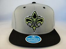 New Orleans Hornets NBA Adidas Snapback Cap Hat Gray Black