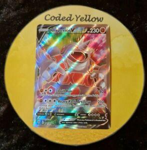 181/189 Rhyperior V | Pokémon Darkness Ablaze SWSH | ULTRA RARE ART Card | New