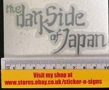 1x Plata 100mmx50mm el lado oscuro de Japón Adhesivo Apto Yamaha Motos