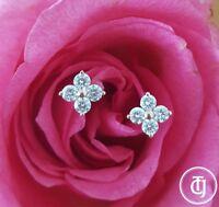 0.24tcw G/SI1 Genuine Diamond Stud Florette Earrings in 18k 18ct Solid Rose Gold
