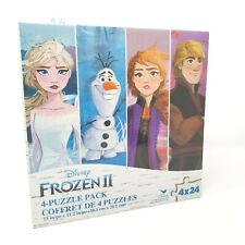Disney Frozen II Puzzle Pack Set of 4 Play Jigsaw Kids Elsa Anna Olaf Kristof