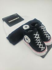 Converse Chuck Taylor Baby Hat & Booties Gift Set, Size 0-6 Months, Black L23