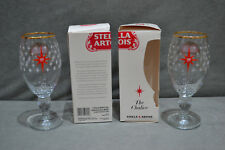2x Limited Edition Stella Artois The Chalice 650 Years Red Star 33cl Rare Glass