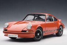 1/18 AutoArt 1973 PORSCHE 911 CARRERA RS 2.7 Arancione/Nero Stripes