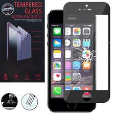 Panzerglas für Apple iPhone 5/ 5S/ SE Echtglas Display Schutzfolie SCHWARZ