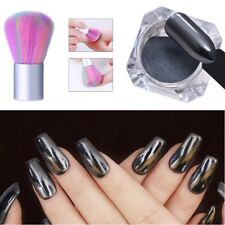 0.5g Black Nail Mirror Powder Dust Cleaning Brush Set Chrome Pigment Manicure
