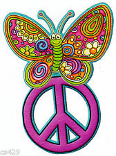 """6"""" PEACE SIGN BUTTERFLY CHARACTER PEEL STICK WALL BORDER CUT OUT STICKER"""