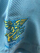 Tommy Bahama Lei Riviera Jacquard Camp Hawaiian Men Shirt Navy Seal Foundation M
