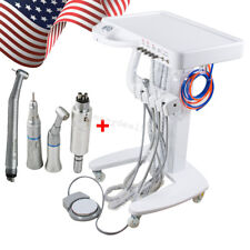 Portable Mobile Cart Dental Delivery Unit System Equipment Syringe Handpiece Kit