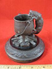 Cat and Cauldron Decorative Figure (fireplace spill holder)