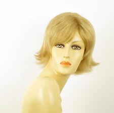 perruque femme 100% cheveux naturel courte blonde ref JENNA 22