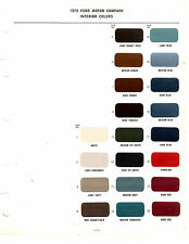 1970 FORD MUSTANG GT TORINO MERCURY COUGAR LINCOLN 70 INTERIOR  PAINT CHIPS MS 6