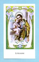RARO SANTINO  S.GIUSEPPE  IMAGE PIEUSE - HOLY CARD SANTINI
