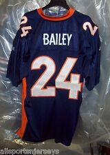 NEW NFL Denver Broncos Champ Bailey #24 Authentic Reebok On Field Jersey Size 56
