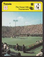 THE FOREST HILLS TOURNAMENT Tennis Photo 1978 SPORTSCASTER CARD 17-22
