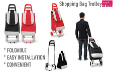 Pull Shopping Trolley Cart Bag Foldable Wheels Carts Bags Market Luggage Basket